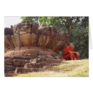 Monk at Elephant Terrace Card