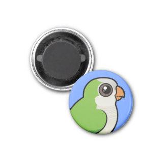 Monk Parakeet 3 Cm Round Magnet