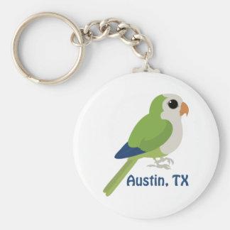 Monk Parakeet -Austin, Texas Basic Round Button Key Ring