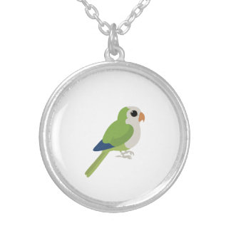 Monk Parakeet Silver Plated Necklace