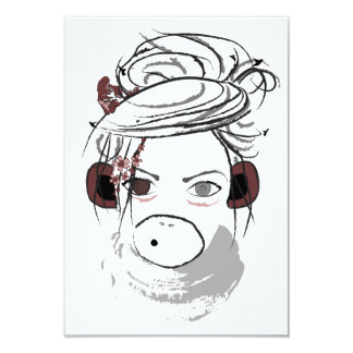 monkey. 9 cm x 13 cm invitation card
