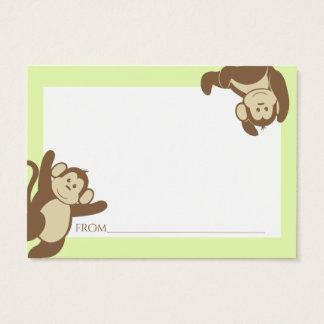 Monkey Baby Shower Advice Cards