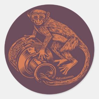 Monkey Brown/Orange Sticker