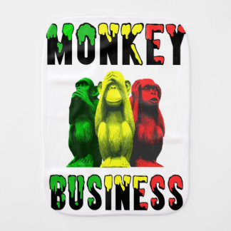 Monkey business burp cloth