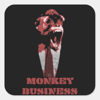Monkey Business customizable Square Sticker