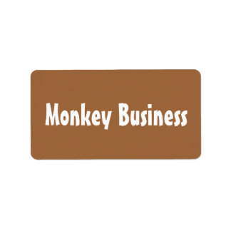 Monkey Business Labels