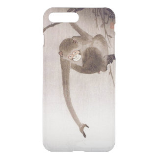 Monkey Catching Reflection of the Moon by Koson iPhone 8 Plus/7 Plus Case