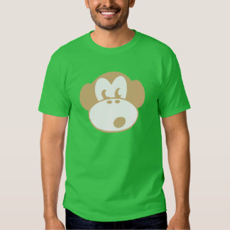 monkey cheeky face animal t shirt