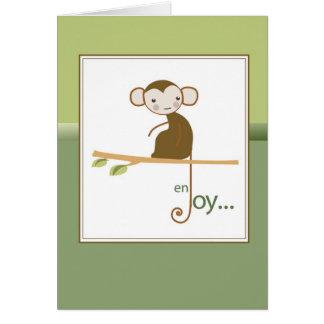 Monkey Enjoy Blessings Thinking of You Card