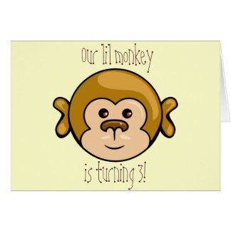monkey face, Our lil monkey birthday party invite Card