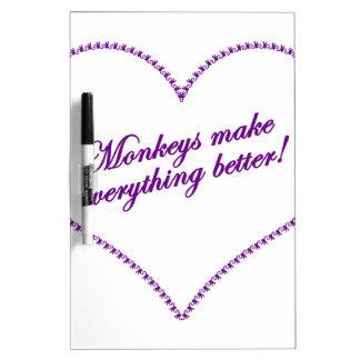 Monkey Love - Monkeys Make Everything Better Dry-Erase Whiteboard