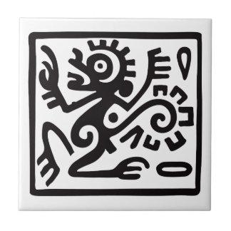 Monkey, Mexican hieroglyph(Maya) Tile