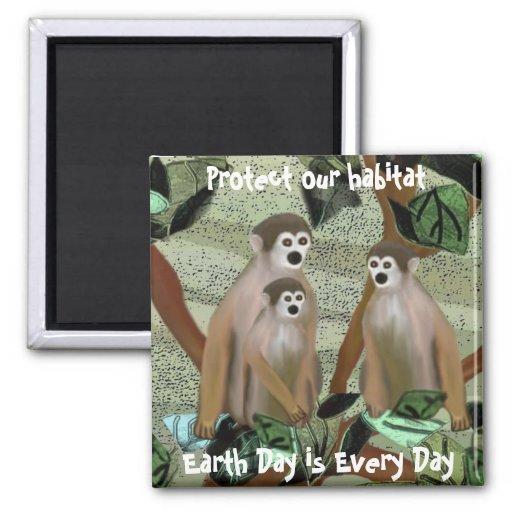 Monkey Nature Habitat Magnet