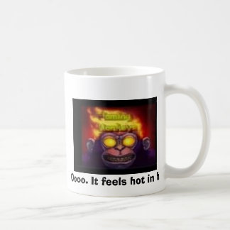 monkey on fire, Oooo. It feels hot in here. Basic White Mug