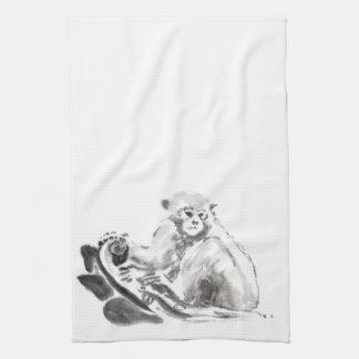 Monkey Painting Chinese New Year 2016 KitchenTowel Kitchen Towels