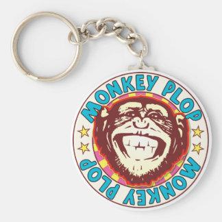 Monkey Plop Basic Round Button Key Ring