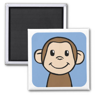 Monkey Square Magnet