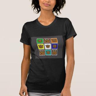 Monkey Stamp Grey T-shirts
