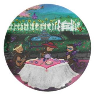 Monkeys In A Garden Plates
