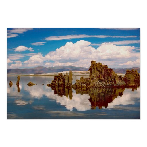 Mono Lake California Tufa Tower Formations Poster