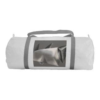 Monochrome Abstract Gym Bag