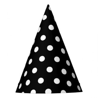 Monochrome Black and White Dots Party Hat