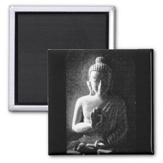 Monochrome Carved Buddha Fridge Magnet