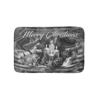 Monochrome Christmas Bath Mat Bath Mats