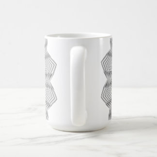 Monochrome Metallic Flower Mug