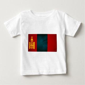 Monochrome Mongolia Flag Baby T-Shirt
