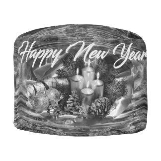 Monochrome New Year Pouf