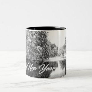 Monochrome New Year Theme Mug
