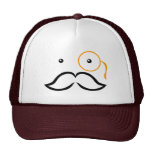 Monocle and Moustache Trucker Hats