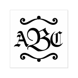 Monogram 3 Letter Initials Decal Self-inking Stamp