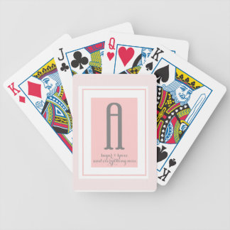 Monogram - A Bicycle Playing Cards