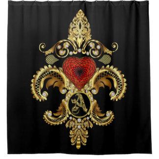 Monogram A Shower Curt Customize Change Back Color Shower Curtain