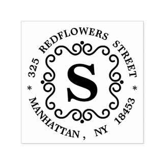 Monogram Address Stamp
