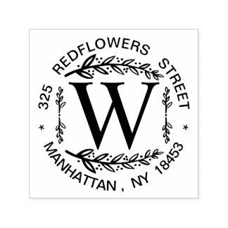Monogram Address Wedding Stamp