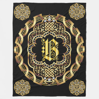 Monogram All CUSTOMIZE To Change Back Color Fleece Blanket