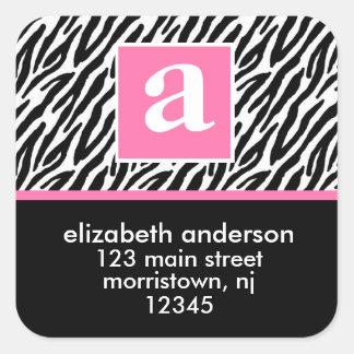 Monogram and Zebra Address Labels