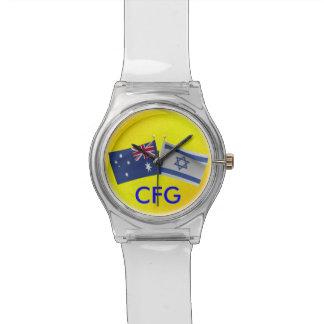 Monogram Australian & Israel Flag Watch