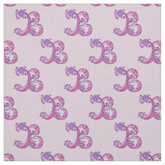 Monogram B decorative personalized letter fabric