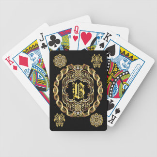 Monogram B IMPORTANT Read About Design Bicycle Playing Cards