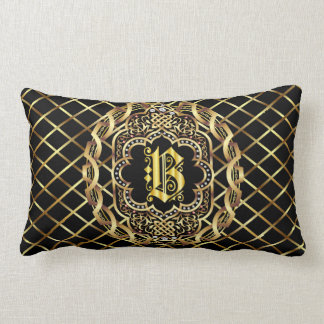 Monogram B IMPORTANT Read About Design Lumbar Pillow