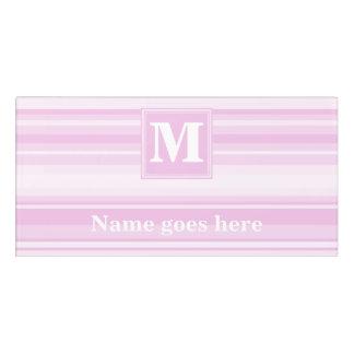 Monogram baby pink stripes door sign
