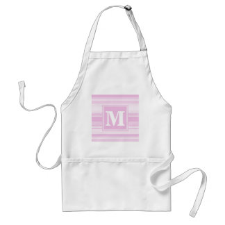 Monogram baby pink stripes standard apron
