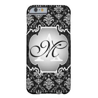 Monogram Black and White Damask Barely There iPhone 6 Case