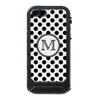 Monogram Black and White Polka Dot iPhone 5 Case
