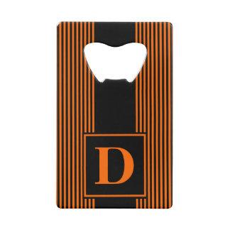 Monogram Black/Orange Pinstripe