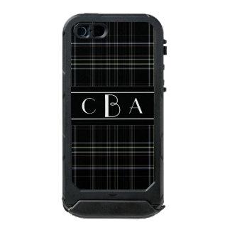 Monogram Black Plaid Incipio ATLAS ID™ iPhone 5 Case